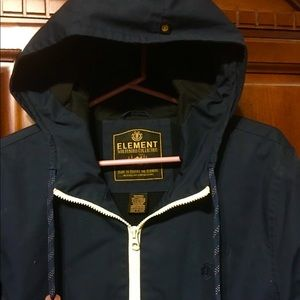 ELEMENT jacket coat size medium dark blue